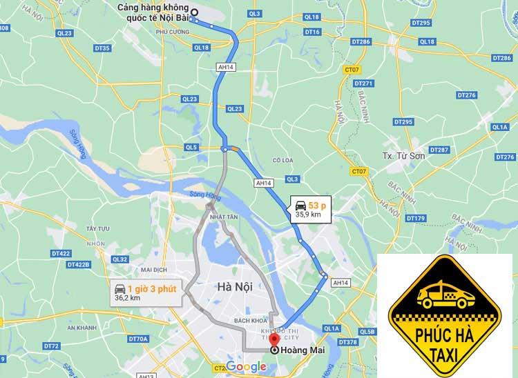 Taxi Nội Bài Về Quận Hoàng Mai
