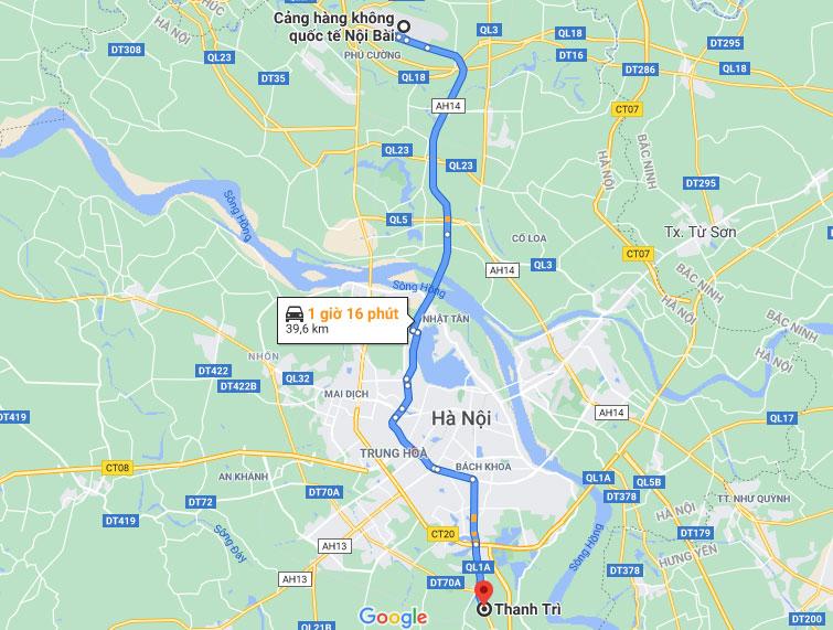 Taxi Nội Bài Về Quận Thanh Trì